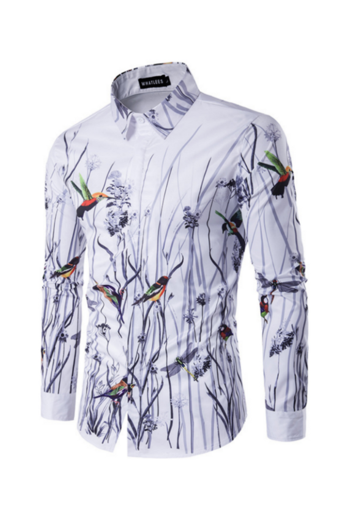 Fashion Printed Shirt In White
