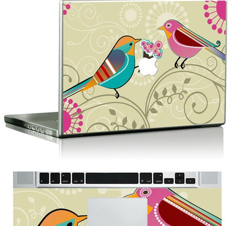 Macbook Birds Love Apple Skin Sticker. Art Decals By Moooh!!