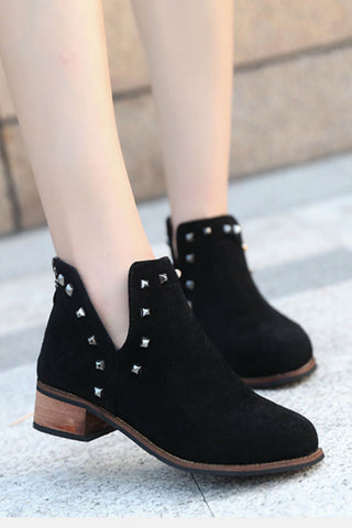 Retro Studded Ankle Boots