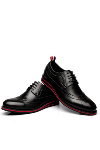 Brouge Lace Up Oxford In Black