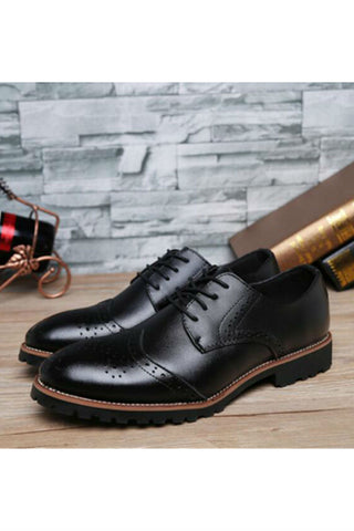 Classic Men Brogue Shoes In Black