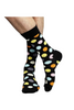Polka-dot Socks In Black