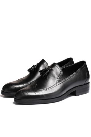 Classic Tassel Business Loafer In Black