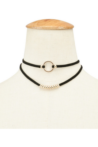 Metal Ring Double Layer Choker
