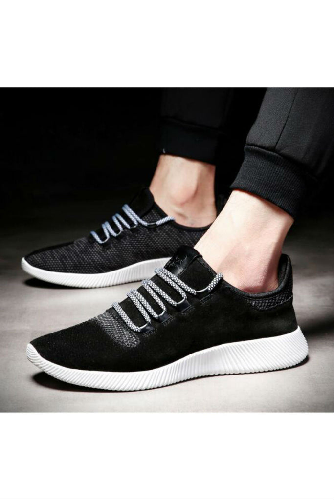 Suede Line Athletic Shoes In Black