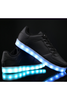LED Light Luminous Black Shoes