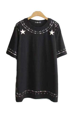 Oversize Star Pattern T-shirt