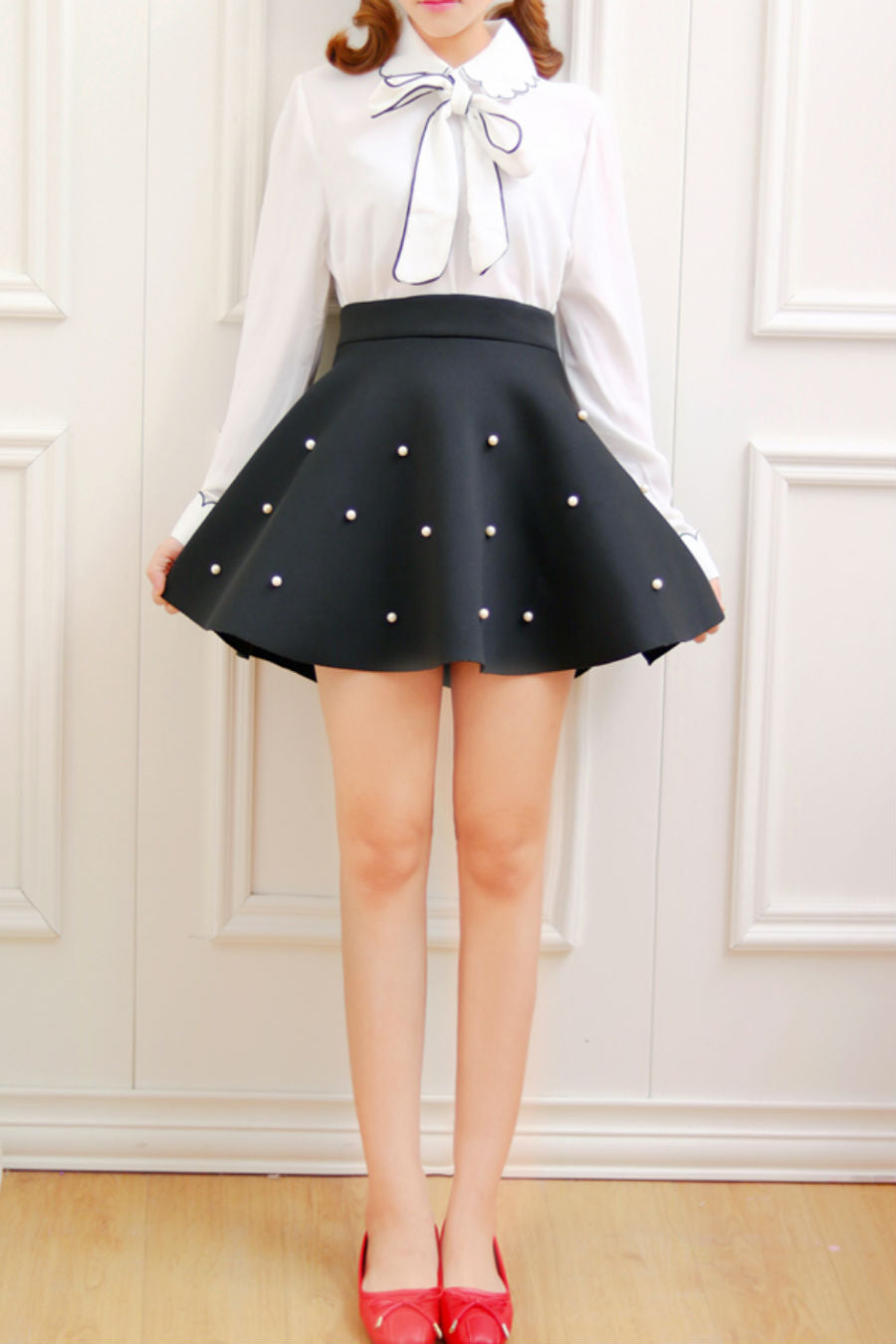 Black Pearl High Waist Skirt