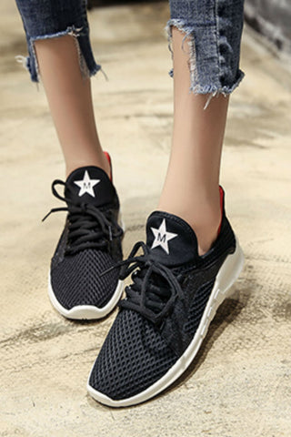 Stars Breathable Running Sneakers