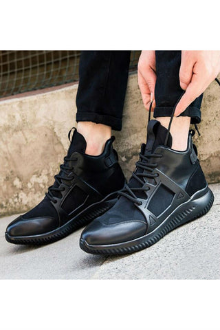 Black Camo Breathable Athletic Sneakers