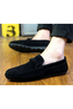 Men's Casual Driving Moccasin Loafer In Black