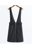 Zipper Up Suspender Skirt