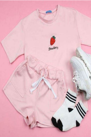 Summer Fruits Tee&Shorts Set
