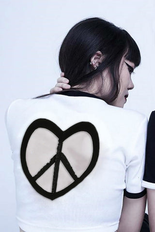 Back Hollow Heart Cropped Top