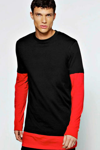Black Red Long Sleeve T-shirt
