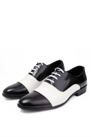 Bicolour Brogue Leather Shoes