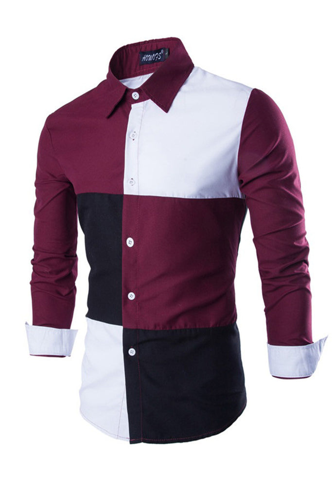 Color Block Slim Fit Shirt