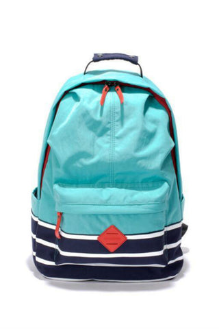 Striped Nylon Backpack In Blue