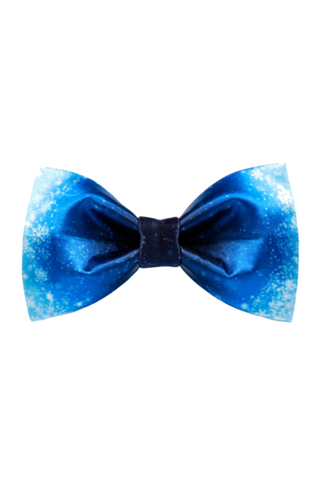 Blue Snow Bow Tie
