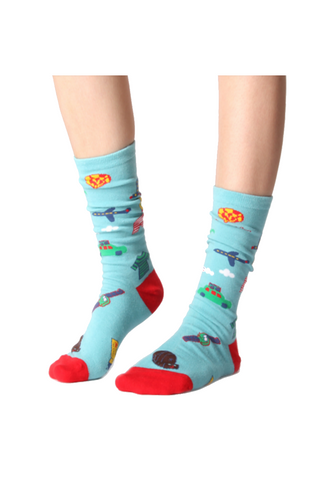 Sky Blue Pattern Unisex Socks