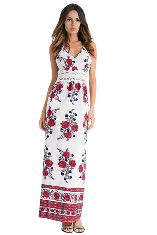 Floral Strappy Maxi Dress