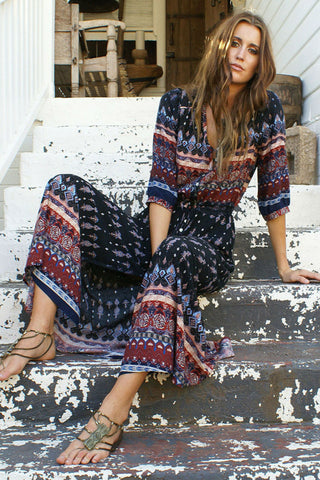 Tribal Bohemian Maxi Dress