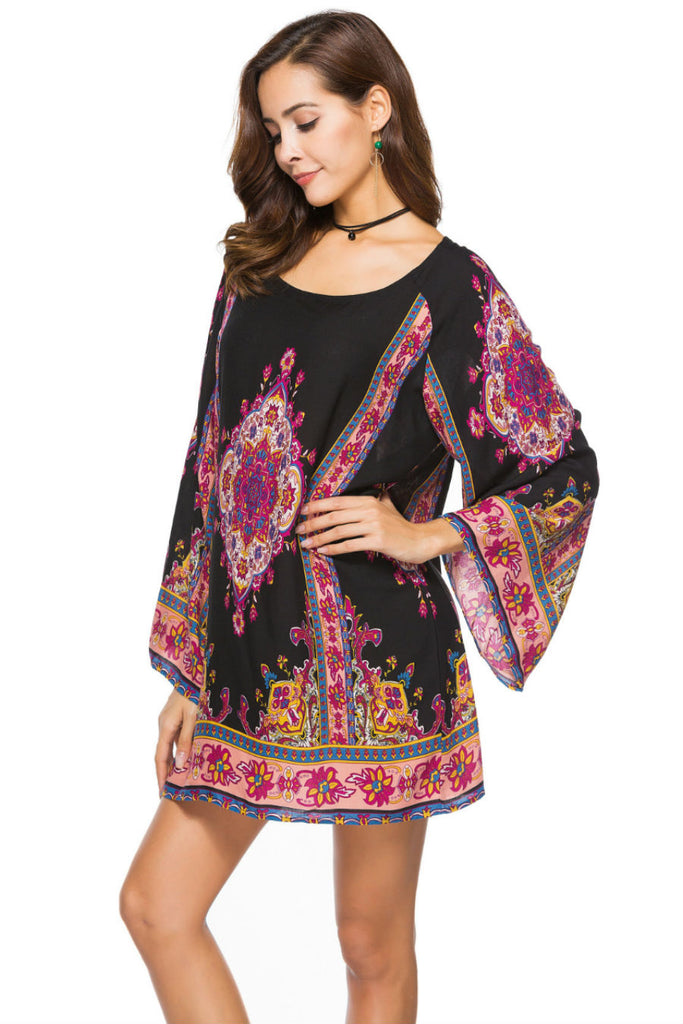Ethnic Print Tunic Dress