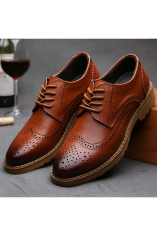 Brown Lace Up Brogue Shoes