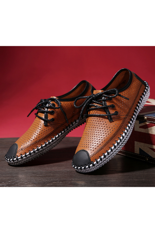 Classic Blithe Casual Lace-up Loafers In Brown