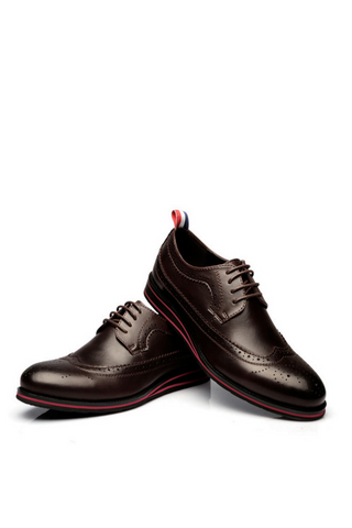 Brouge Lace Up Oxford In Brown