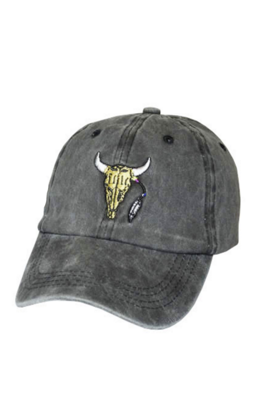Bull Embroidered Baseball Hat