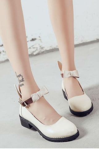Cream Bunny Ear Shoes