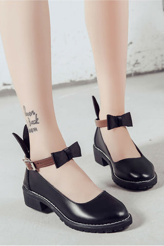 🐹 Black Bunny Ear Shoes 🐹