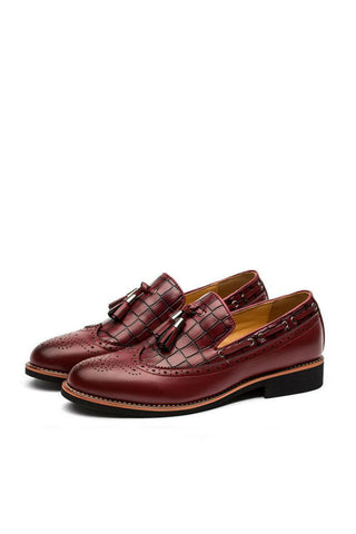 Burgundy Brogue Dress Shoes