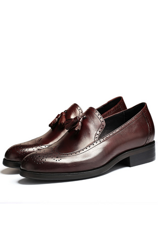 Classic Tassel Business Loafer In Burgundy