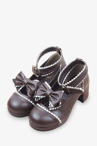 Brown Lolita Platform Shoes