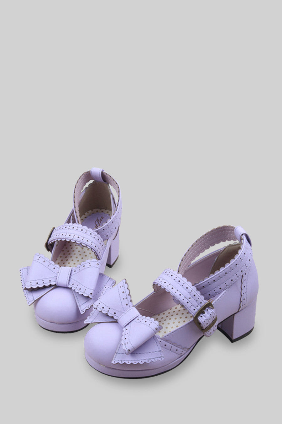 Lolita Platform Shoes In Lilac
