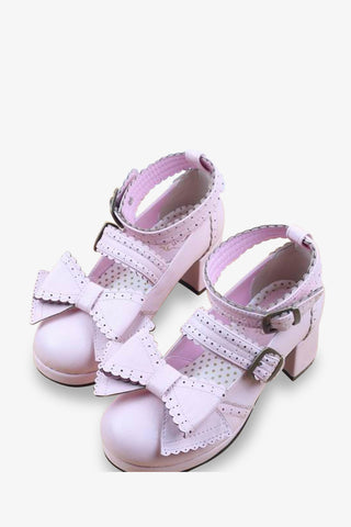 Lolita Platform Shoes In Pink