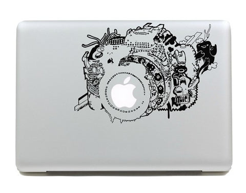 Nature Motif Macbook Camera Decal Sticker. Art Decals By Moooh!!