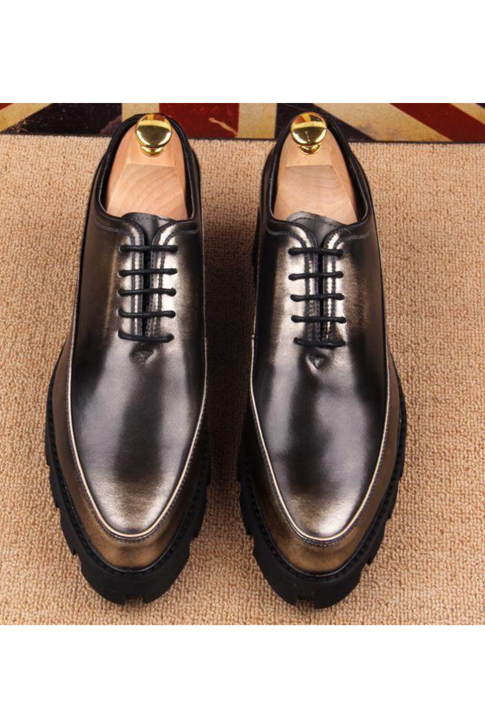 Cap Toe Oxford Shoes In Bronze