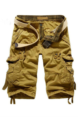 Casual Cargo Ripped Shorts