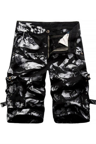 Summer Men's Casual Cargo Shorts In Black