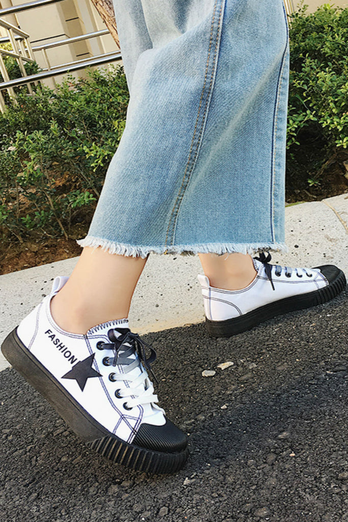 Harajuku Lace Up Sneakers