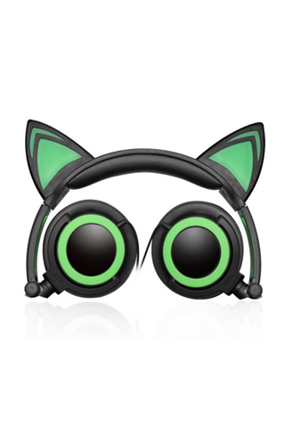 Cat Ear Headphones In Green
