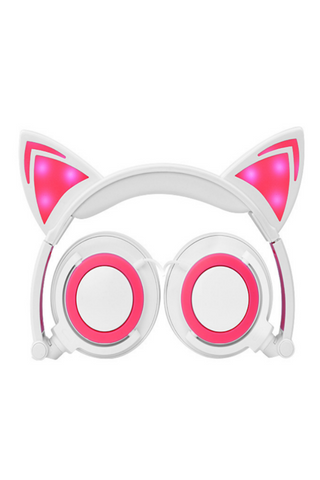 Cat Ear Headphones In White