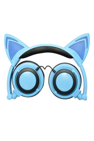 Cat Ear Headphones In Blue