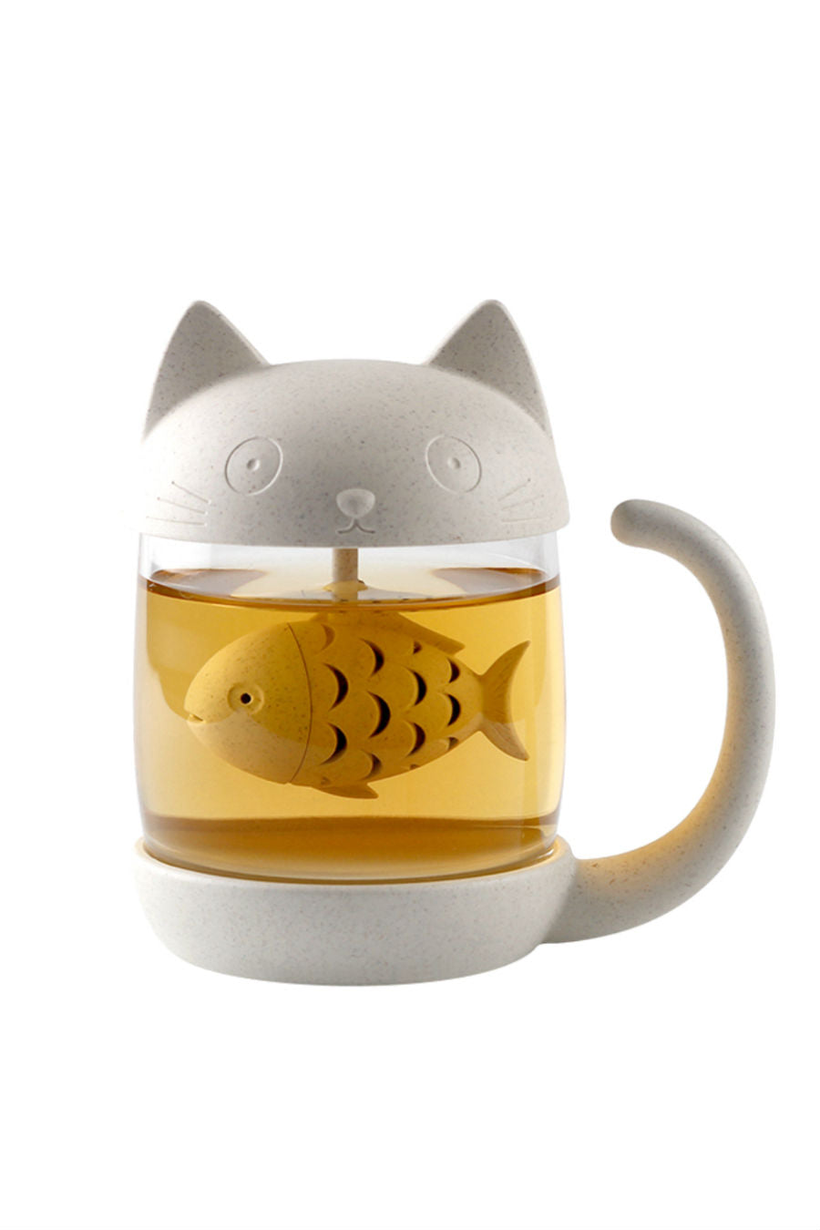 Cat Glass Mug With Infuser