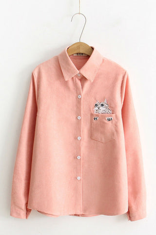 🙀 Cat Pocket Shirt 👀