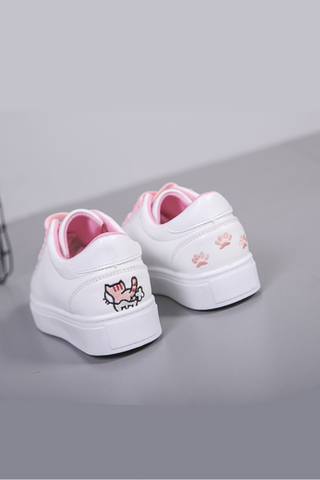 Cute Cat Embroidery Sneakers