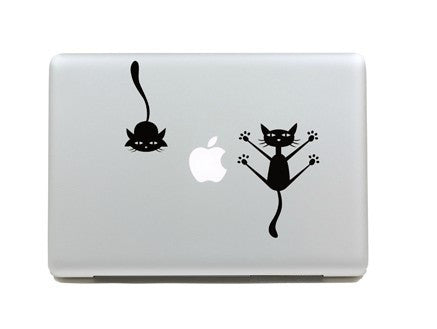 Macbook Cats Decal Sticker. Art Decals By Moooh!!